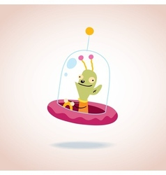 Cute alien character vector