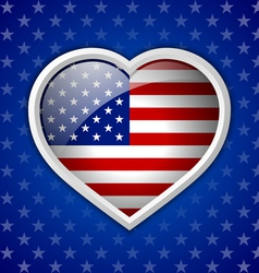 American heart badge vector