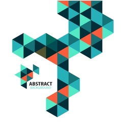 Abstract mosaic geometric shapes isolated vector