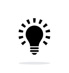 More light icon on white background vector