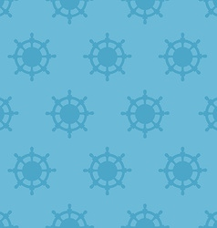 Nautical texture with steering wheels vector