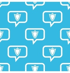 Shield message pattern vector