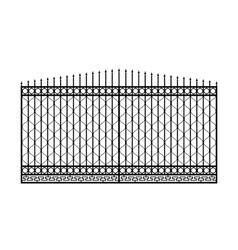 Forged gate with sharp spikes vector