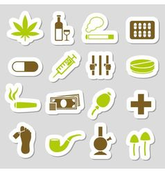 Drugs stickers vector