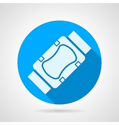 Flat icon for elbow and knee protection vector