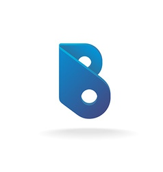 Letter b logo template construction building vector