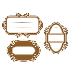 Antique vignettes and frames vector