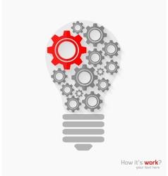 Concept bulb vector