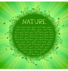 Green nature background with green grass sunburst vector
