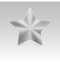 Metal star silver vector