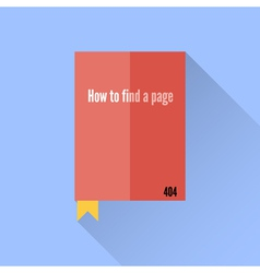 Flat book icon 404 error faq vector