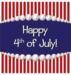 Happy 4th of july vector
