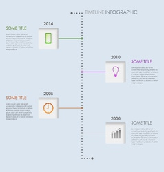Time line info graphic elements template vector