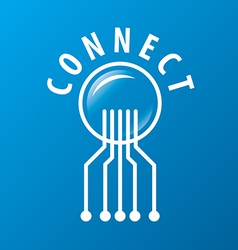 Logo chip network connectivity vector