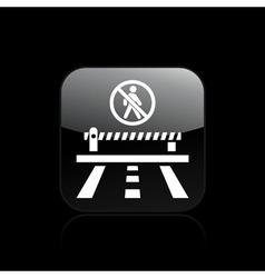 Forbidden access icon vector
