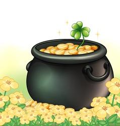 A pot of gold in the garden vector