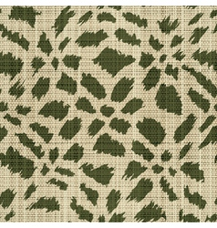 Rough textile print vector