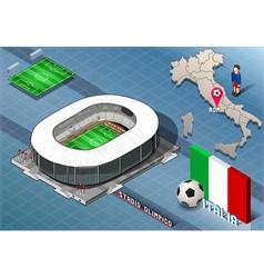 Isometric stadium olimpico rome italy vector