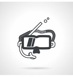 Dive mask black icon vector