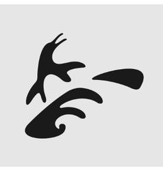 Symbol surfers penguin vector