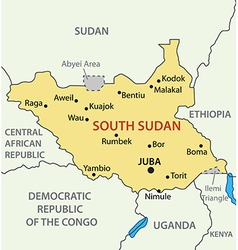 Republic of south sudan - map vector