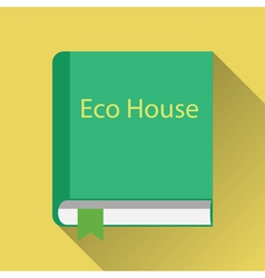 Paper book about green home vector