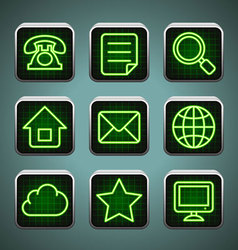 Led icons vector