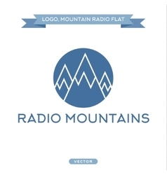 Radio signals scale mountains icon flat vector