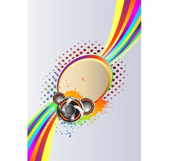 Abstract rainbow music background vector