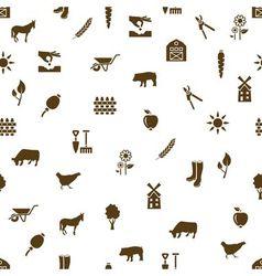 Farm seamless pattern vector