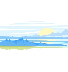Sunrise landscape vector