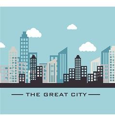 Urban design over blue design vector