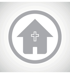 Grey christian house sign icon vector