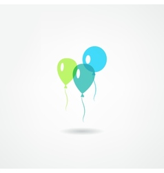 Balloons icon vector