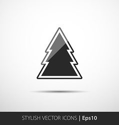 Christmas tree icon vector