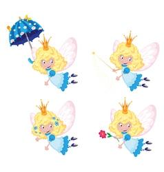 Fairy funny set vector