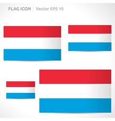 Luxembourg flag template vector