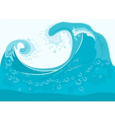 Blue sea wave vector