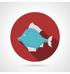 Exotic fish red round icon vector