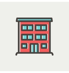Hospital building thin line icon vector