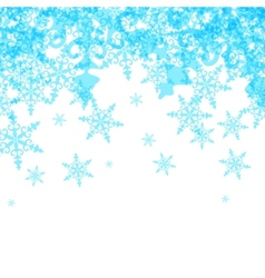 Abstract winter background from blue snowflakes vector