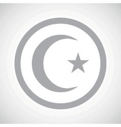 Grey turkey symbol sign icon vector