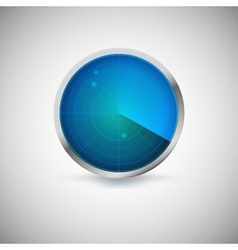 Radial screen of blue color with targets vector