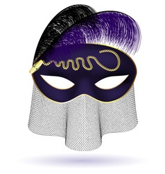 Black purple half mask vector