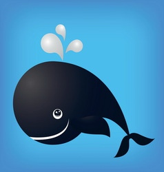 Whale ocean fish isolated vector