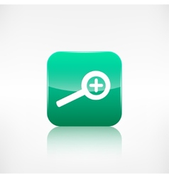 Zoom in icon search loupe vector