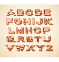 Retro constructor letters collection vector