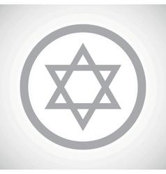 Grey star of david sign vector