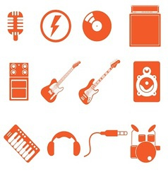 Band icon vector