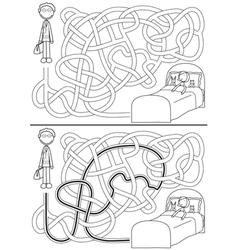 Doctor maze vector